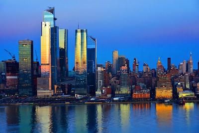 NYC Blue Hour Meets Sundown Gold