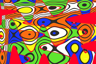 Viral Color Abstract