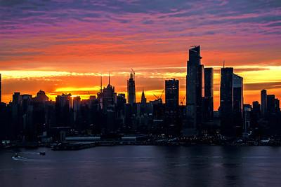 Rainbow Hued Sunrise Skies NYC