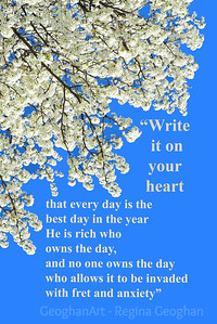 Pear Blossoms and Quote