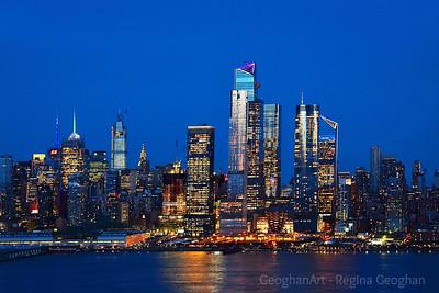 NYC Blue Hour Night Lights