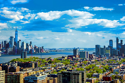 LOwer Hudson River NYC and NJ Cityscape