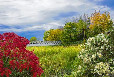 Mill Creek Bridge in Autumn Colors