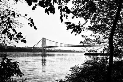 Foliage Framed George Washington Bridge