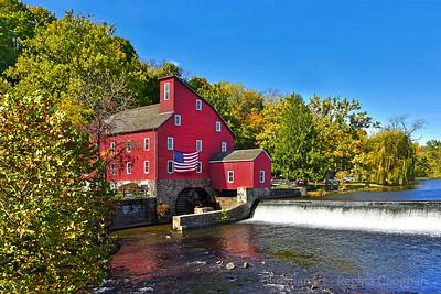 Red Mill Fall Season Landscape NJ