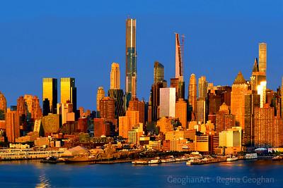 New York Skyline - 50 Shades of Gold