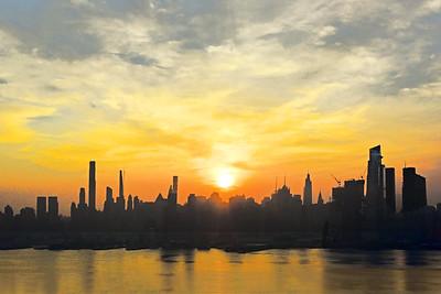 NYC Misty Morning Sunrise