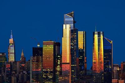 Sundown Light on Hudson Yards NYC