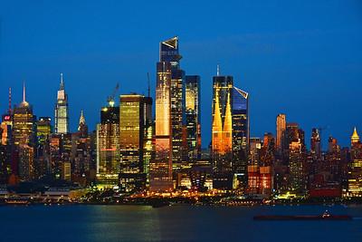 NYC in Summer Sundown Gold