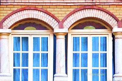 Day 103:- Window Architecture - Alphabet Challenge M - April 13. A slight Topaz paint filter to give a more artistic effect.
