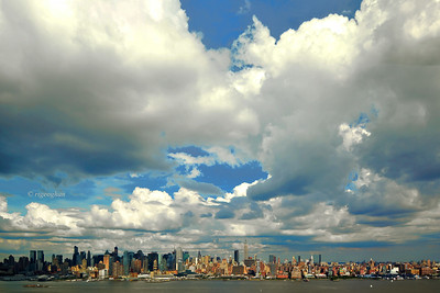 Day 178: NYSkyline and Big Sky - June 27.  One of those summer days yesterday when the sky trumped the skyline in late afternoon. .