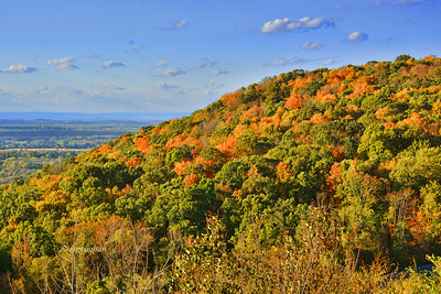 Day 280: Fall Foliage New Jersey - Oct 11.  Fall foliage is progressing nicely in the northwest part of New Jersey in the higher elevations.  This is a view of the Allamuchy Mountains with northern NJ in the valley and New York State is the far distance.