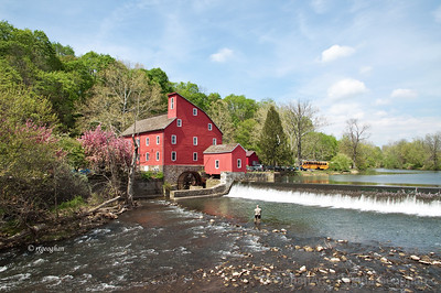 Day 111: Red Mill - April 20, 2012.  Photo #2 - Thought I would post a second image of this wonderful mill for anyone who would like a better idea of what the full scene looks like.