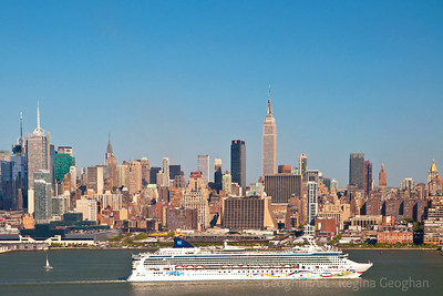 Day 121: NYC-Cruise Ship - April 30, 2012.  Norwegian Star Cruise ship departing New York late yesterday afternoon.