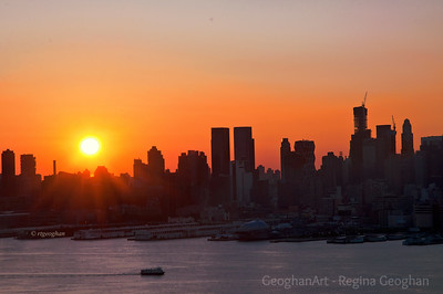 Day 225: New York Skyline - August 13.  Happy Monday.  A beautiful sunrise this morning to begin the week.