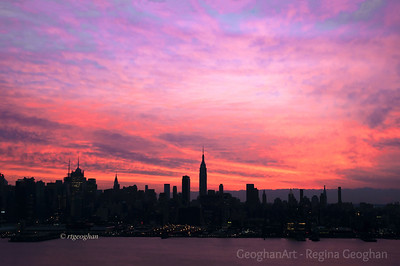 Day 365: NY Skyline Dawn - Dec 31.  Nature put on a gorgeous show this morning at dawn, the last day of 2012.  This post is the completion of my second year of posting photos in this daily community.  Thanks to all for the support that you provide with you comments.