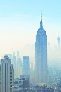 Day 337: New York Skyline- Dec 3.  Morning fog in the city today and almost springlike temperatures. .