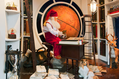 Day 357: NYC Christmas Window - Dec 23.  Another photo from my NYC Christmas Window collection taken in mid-December.   This Santa can be seen in the Lord and Taylor window.