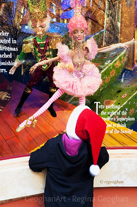 Day 340: New York City Macy Holiday Window - Dec 6.  A perfect day yesterday for walking in the city to view some of the holiday/Christmas windows.  So much fun to watch the children looking at the puppets in the Macy windows.  Thanks everyone for the nice comments about my skyline photo yesterday.  The construction is about to begin and before long, that view will be full of cranes and within about two years, the Empire State Building will be blocked from view as far as I can tell from the news reports. .
