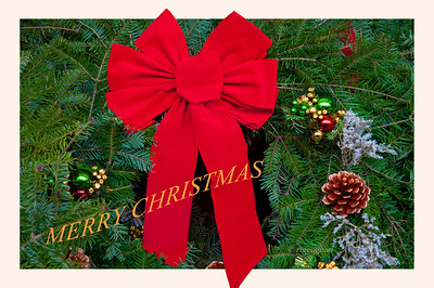Day 359: Christmas Wreath Card - Dec 25.  Merry Christmas everyone.