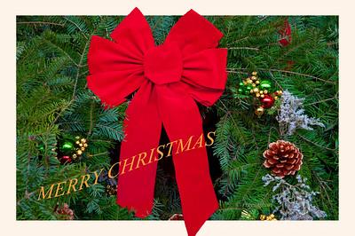 Day 359: Christmas Wreath Card - Dec 25.  Merry Christmas everyone.