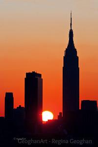 Day 38: NY Skyline Sunrise - February 7, 2012.