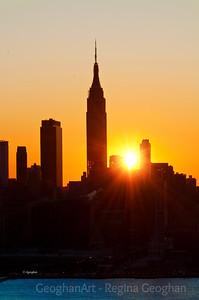 Day 34: NY Skyline Sunrise - February 3, 2012.