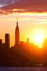 Day 30: New York Skyline Sunrise - January 30, 2012.