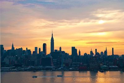 Day 26: NY Skyline Sunrise - January 26, 2012.  A very mellow and short-lived sunrise this morning.