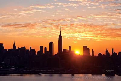 Day 28: New York Skyline Sunrise - January 28, 2012.