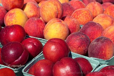 Day 191: Summer Fruit- July 9.  Summer fruit on display at a Farmer's Market.
