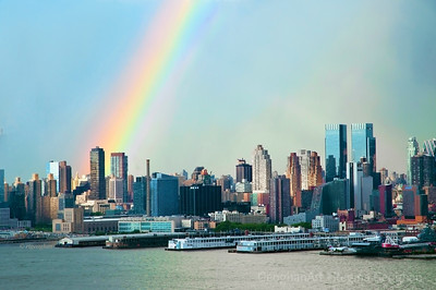 Day160: NYC Rainbow - June 8, 2012.  This is turning out to be the week of rainbows.  Another beauty around sundown yesterday after a storm in the distance.