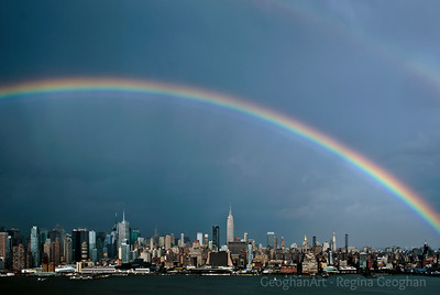 Day156: Rainbow over Manhattan #2 - June 4, 2012. Two photos posted for today. A gorgeous double rainbow over the New York Skyline yesterday evening