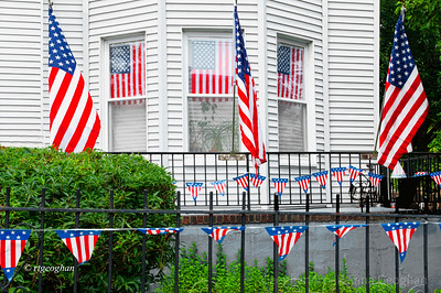 Day148: Showing the Flag - May 27, 2012.  Passed by this house while out doing a chore.  Had my camera with me so I quickly pulled over and grabbed a shot.  For me it shows the essence of what this U.S. Memorial Day holiday weekend is about.