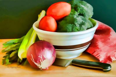 Day 316: Vegetable Still Life - Nov 10.  A little filter play yesterday.