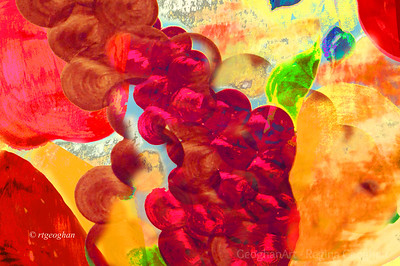 Day 277: Abstract Fruit bowl - Oct 3.   A rainy, cloudy, foggy - a good day for some Photoshop play.