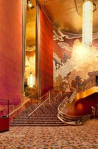 "Day 261: NYC Radio City Music Hall Grand Foyer - Sept 17. Had a wonderful time photographing the interior of Radio City Music Hall yesterday as part of a ""Roamin with Roman"" photo tour. Thanks Roman, Anthony and Susan Candelario"