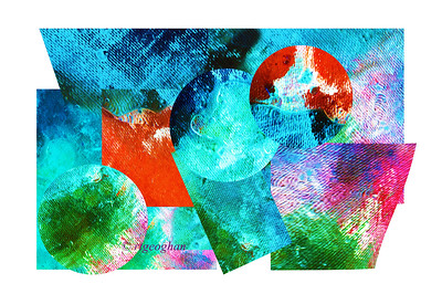 Day 56: Abstract Spring Emerging- Feb 25.   I know - a little strange - but I am so looking forward to Spring decided to create something.  Started with making an abstract photograph then selecting and pasting sections of it on a new file.  It was fun to play a little - need to settle down and start getting my tax papterwork together. .
