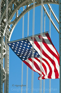 Day 50: American Flag George Washington Bridge - Feb 19. A very cold, windy but beautifully clear day yesterday.  Took a ride to the GW Bridge to get photos of the American Flag that is displayed on federal holidays.  It is the largest free flying American flag in the country, weighing 450 pounds and measuring 90 by 60 feet. I posted some photos last year but I love to return to see it when I can.