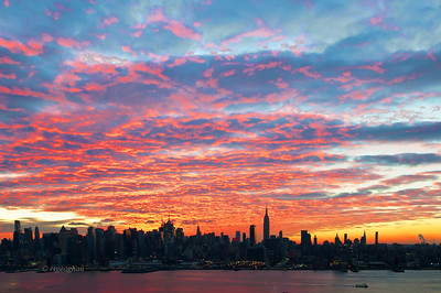 Day 64: NYSkyline at Dawn - Mar 5.