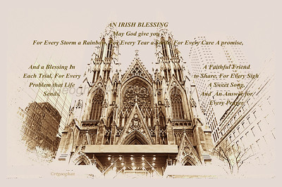 Day 76: St Patricks Cathedral NYC - Mar 17. Happy Saint Patrick's Day everyone.