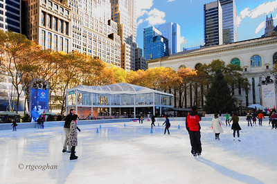 Day 323: Bryant Park Ice Rink NYC- November 20.