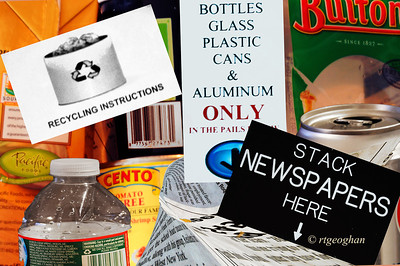 Day 314: Recycle Theme Collage - November 10.  Alphabet day today - R for Recycle, Reuse, Reclaim.   .