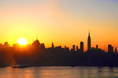Day 271: NYSkyline at Sunrise - October 2.  A beautiful sunrise to start the day today - Happy Wednesday everyone.