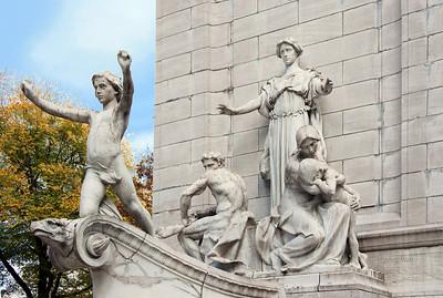 NYC Central Park Maine Memorial