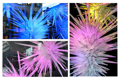 NYC Holiday Chihuly Glass Window Display