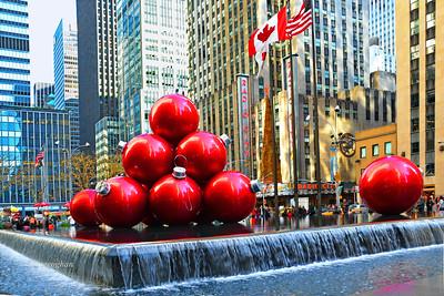 Holiday Ball Ornament Display NYC