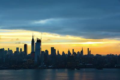 NY Skyline- Last Sunrise 2015