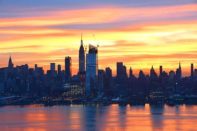 NY Skyline Christmas Day Dawn