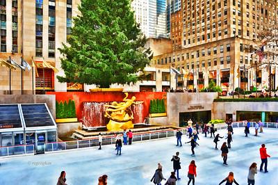 NY Holidays-Rockefeller Center Tree and Rink